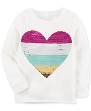 Carters SequinHeart Sweatshirt Little Girls (58)