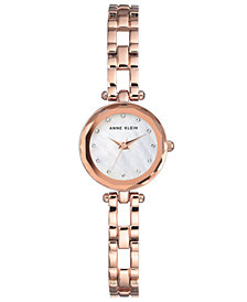 Anne Klein Women's Rose Gold-Tone Bracelet Watch 22.5mm