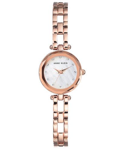 Anne Klein Women's Rose Gold-Tone Bracelet Watch 22.5mm