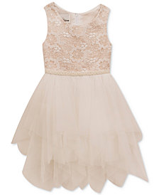 Rare Editions Embroidered-Bodice Dress, Little Girls