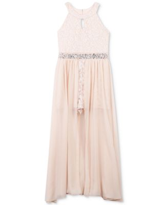 Girls lace maxi dress