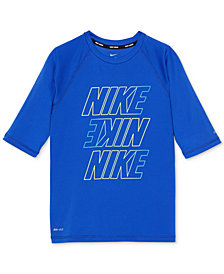 Nike Hydro Guard Rash Guard Swim Top, Little Boys