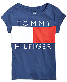 Tommy Hilfiger Big Girls  Logo Flag T-Shirt