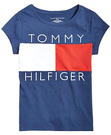 Tommy Hilfiger Big Girls  Logo Flag T-Shirt