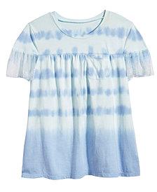 Kandy Kiss Tulle-Sleeve T-Shirt, Big Girls