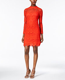 Julia Jordan Lace Mock-Neck Sheath Dress