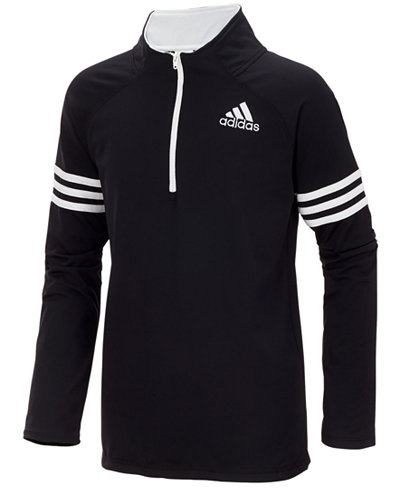 adidas Quarter-Zip Pullover Jacket, Toddler Boys (2T-4T) - Coats ...