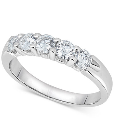 Diamond Five-Stone Ring (1 ct. t.w.) in 14k White Gold
