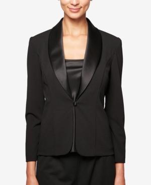 1930s Evening Dresses | Old Hollywood Dress Alex Evenings Satin-Trim Jacket  Shell $149.00 AT vintagedancer.com