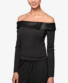 Alex Evenings Off-The-Shoulder Top