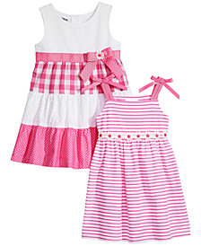Blueberi Boulevard 2-Pack Sundresses, Baby Girls