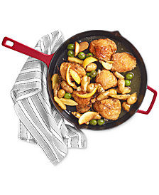 "Martha Stewart Collection 12"" Enameled Cast Iron Fry Pan, Created for Macy's"
