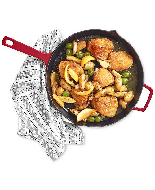 """Martha Stewart Collection CLOSEOUT! 12"""" Enameled Cast Iron Fry Pan, Created for Macy's"""