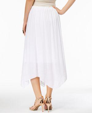 Thalia Sodi Lace-Waist Handkerchief-Hem Skirt, Created for Macy's thumbnail