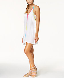 Raviya Multi-Color Trim Dress Cover-Up