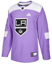 bc67cf8ab92 adidas Men s Los Angeles Kings Authentic Hockey Fights Cancer Jersey