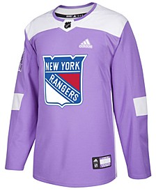 Men's New York Rangers Authentic Hockey Fights Cancer Jersey