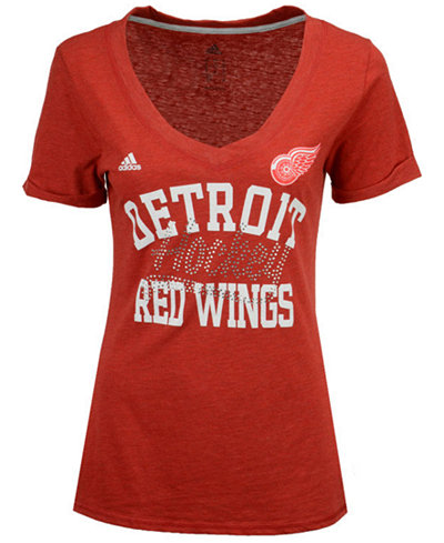 adidas Women's Detroit Red Wings Hockey Shine T-Shirt