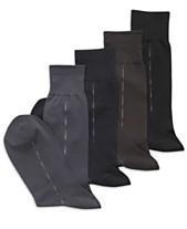 c6cdfe43f4 Perry Ellis Men s Microfiber Luxury Stripe Single Pair Socks