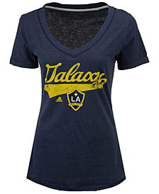 adidas Women's LA Galaxy Tail Stack T-Shirt