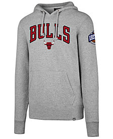 '47 Brand Men's Chicago Bulls Double Double Pullover Hoodie