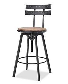 Eddan Swivel Bar Stool, Quick Ship
