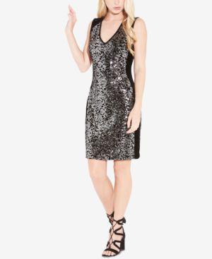 Karen Kane Sequined Sheath Dress 5304643