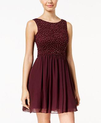 Speechless Juniors Glitter Lace Party Dress A Macy S