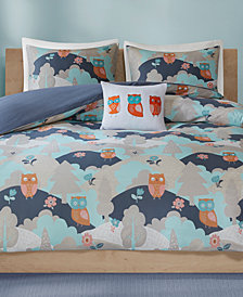 INK+IVY Kids' Luna 4-Pc. Printed Full/Queen Duvet Cover Set