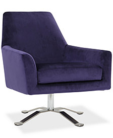Henria Swivel Club Chair, Quick Ship