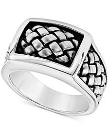 Men's Weave-Look Ring in Sterling Silver
