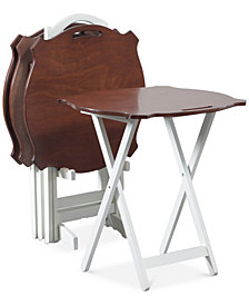 Lamell Folding Table 5-Pc. Set, Quick Ship