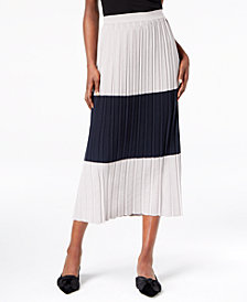 Weekend Max Mara Colorblocked Pleated Skirt