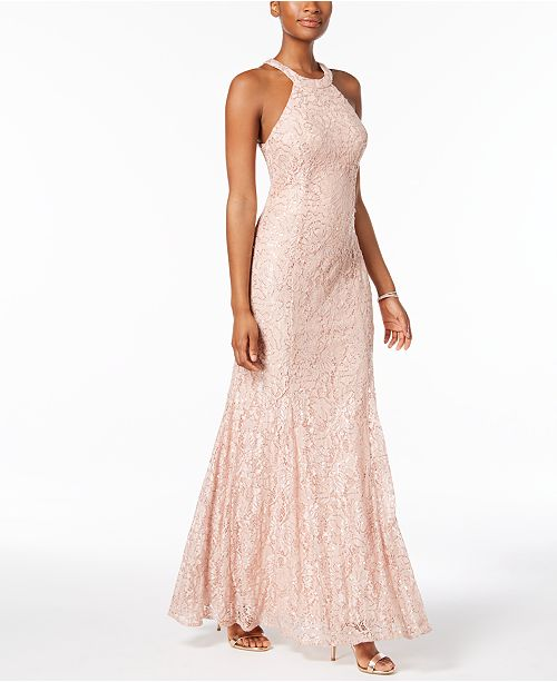 00cbb3f8342 Nightway Sequined Lace Gown   Reviews - Dresses - Women - Macy s