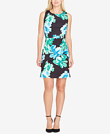 Tahari ASL Floral-Print Scuba Sheath Dress