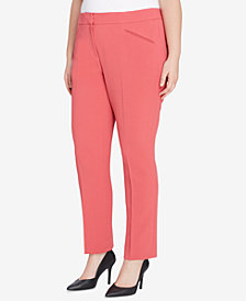 Tahari ASL Plus Size Crepe Trousers