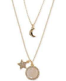 Ivanka Trump Rose Gold-Tone Two-in-One Star and Moon Charm Pendant Necklace