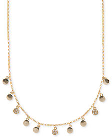 Ivanka Trump Gold-Tone Pavé Disc Collar Necklace