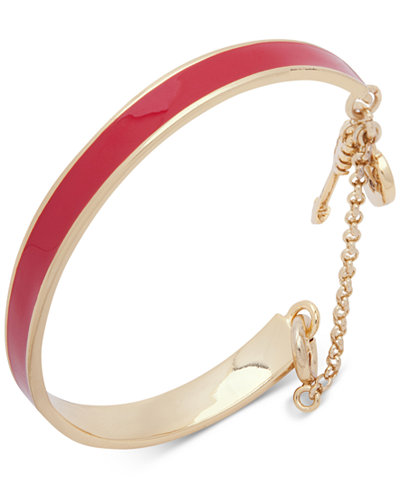 Ivanka Trump Gold Tone Enamel Bangle Bracelet