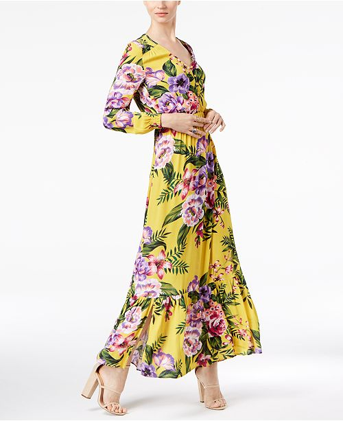 Eci Floral Print Maxi Dress Dresses Women Macy S