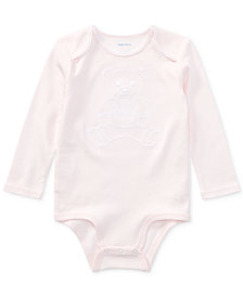 Ralph Lauren Baby Girls Interlock Cotton Bodysuit