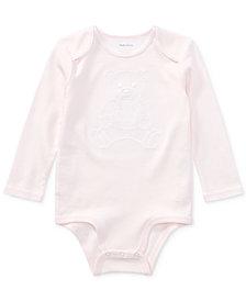 Ralph Lauren Interlock Cotton Bodysuit, Baby Girls
