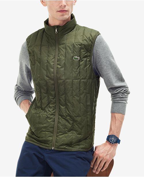 4973b46b8 Lacoste Men s Packable Down Vest  Lacoste Men s Packable Down ...