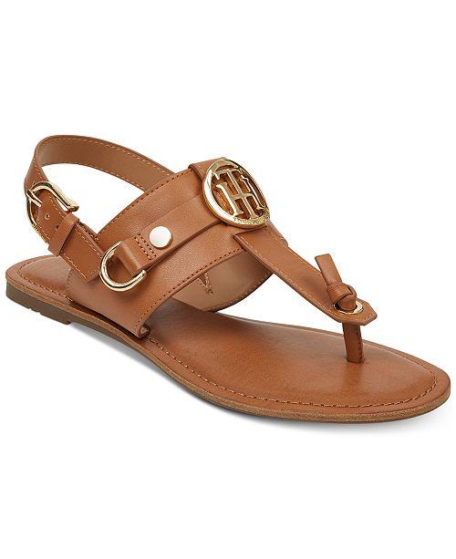 Tommy Hilfiger Luvee Flat Sandals Women's Shoes HJB1yLpIaN