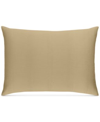 CLOSEOUT!  Pleated Stripe Taupe Standard Sham, Created for Macy's