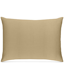 CLOSEOUT! Hotel Collection  Pleated Stripe Taupe King Sham, Created for Macy's