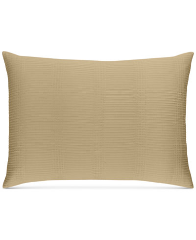 CLOSEOUT! Hotel Collection Pleated Stripe Taupe Standard Sham, Created for Macy's