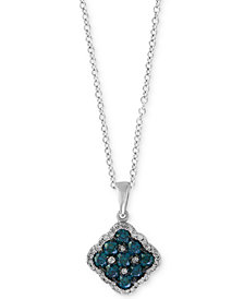 EFFY® Diamond Pendant Necklace (3/4 ct. t.w.) in 14k White Gold