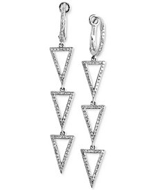 EFFY® Diamond Triangle Drop Earrings (1/2 ct. t.w.) in 14k White Gold