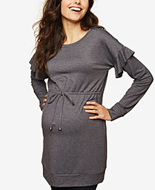 Motherhood Maternity Ruffled French Terry Sweatshirt